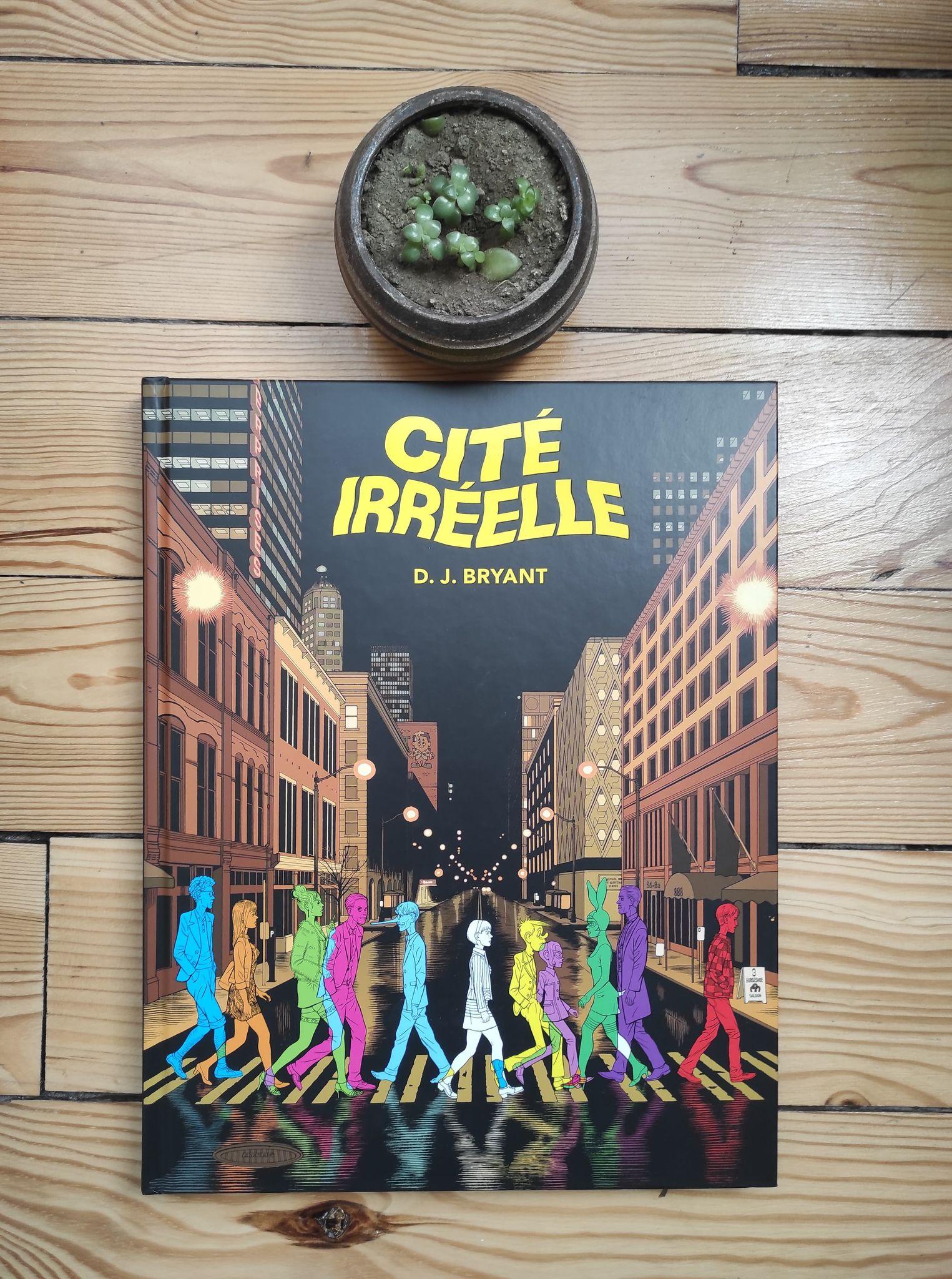 Cité Iréel bande dessinée édition Tanibi et une plante verte