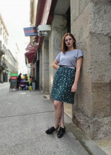 Jupe Ava Viscose Verte Julie Bonnard Créatrice Saint-Étienne (6)