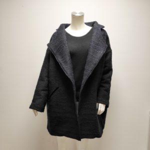 Manteau Yli Over Size en laine et acrylique bleu