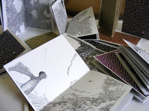Livre Dédal sérigraphie et illustration par Sojo