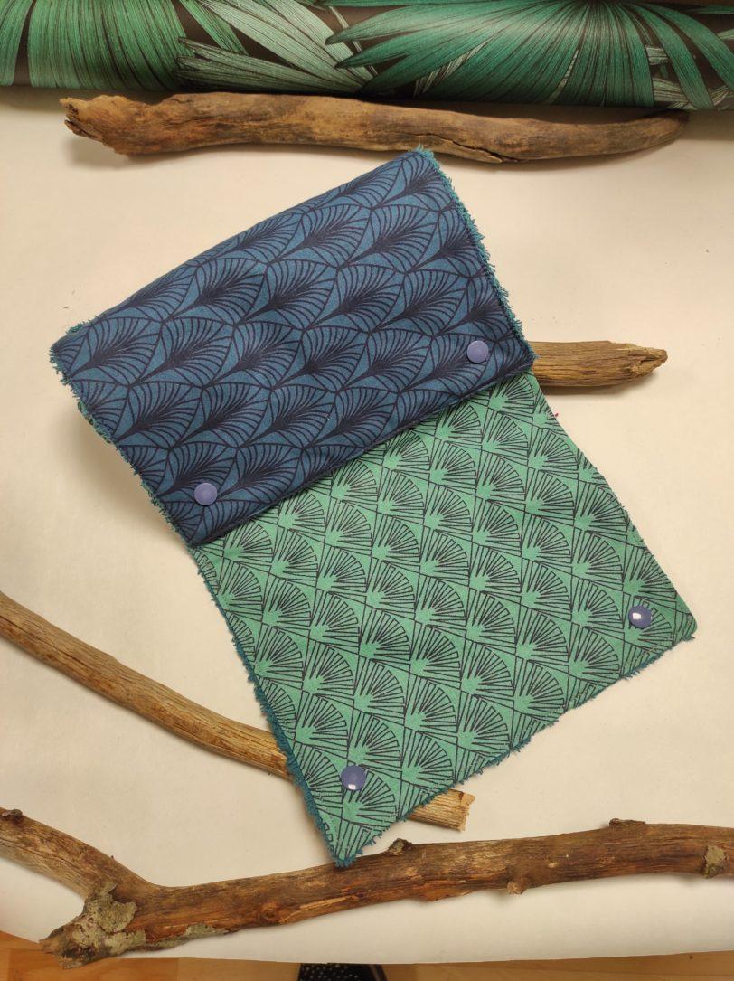 Essuie Tout Art Déco 5 feuille éponge bleu (1)