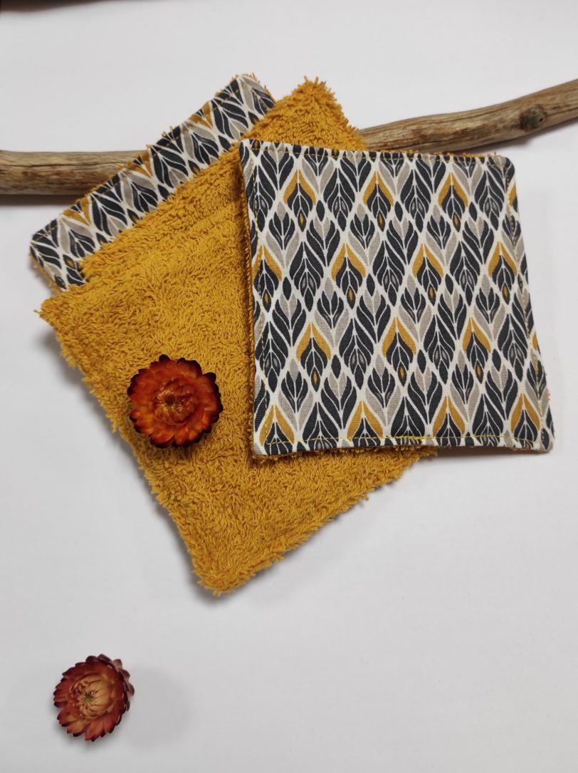 Grand coton épi éponge jaune (3)