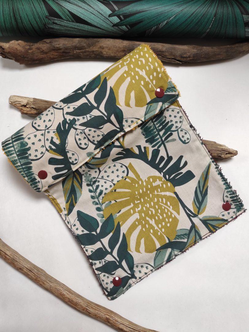 Jungle Vert éponge bordeau et jaune (5)