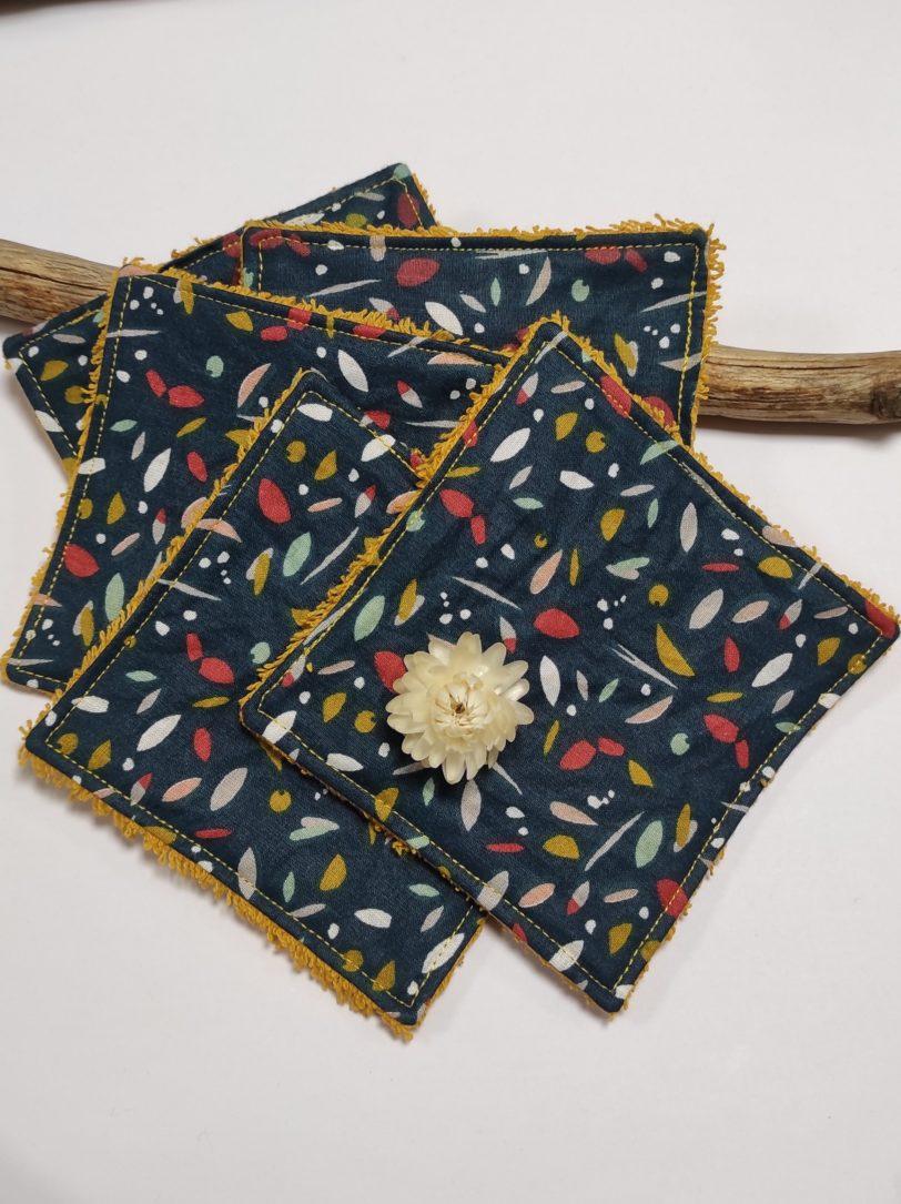 Petit coton Confetti éponge jaune (2)