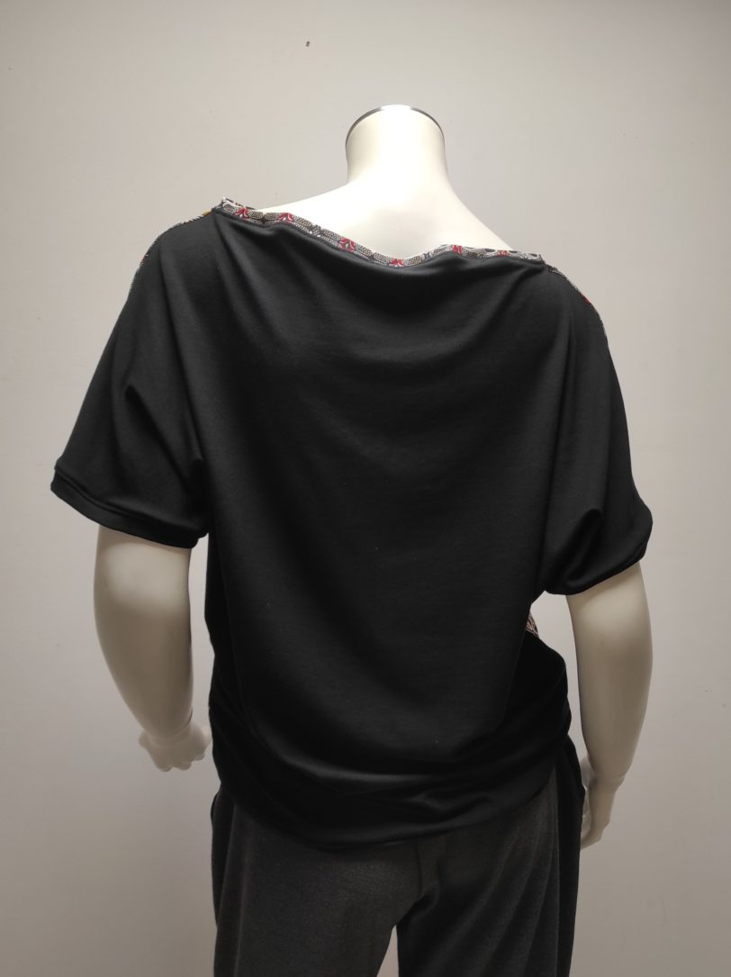 T-shirt Testa KaléidoNoir Julie Bonnard Créatrice Saint-Étienne (4)