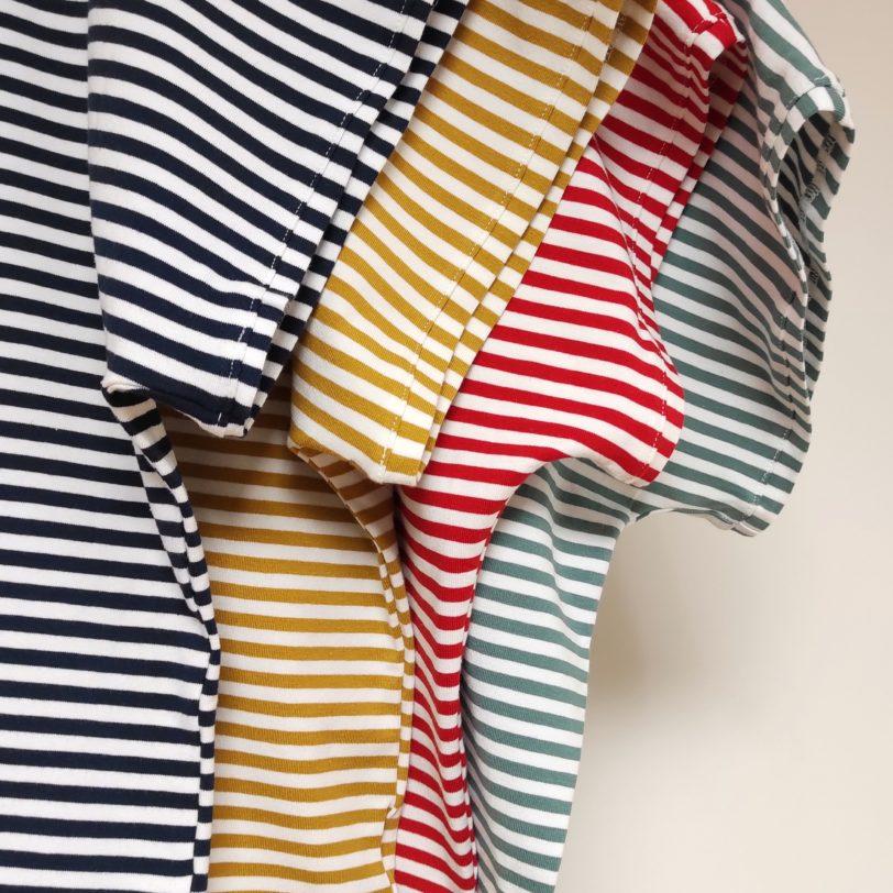 4 coloris des tshirt Krok Julie Bonnard Saint-etienne