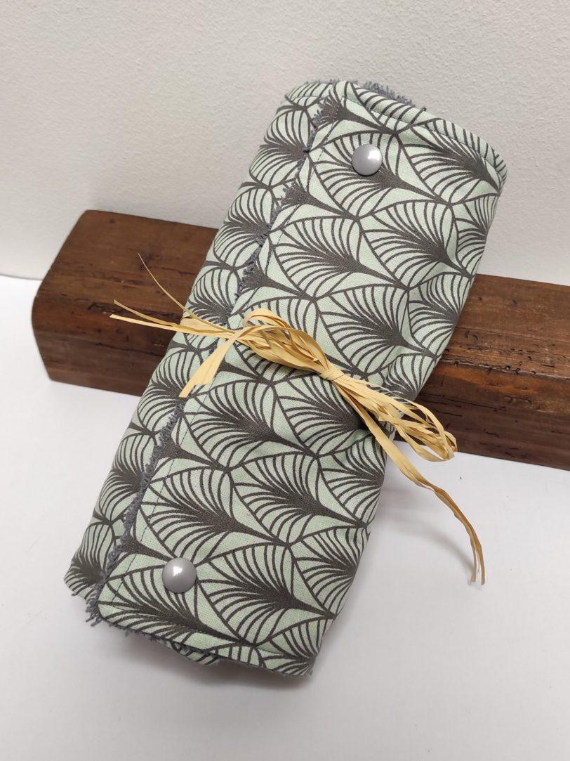 Essuie Tout Art déco 5 feuilles Julie Bonnard créatrice textile