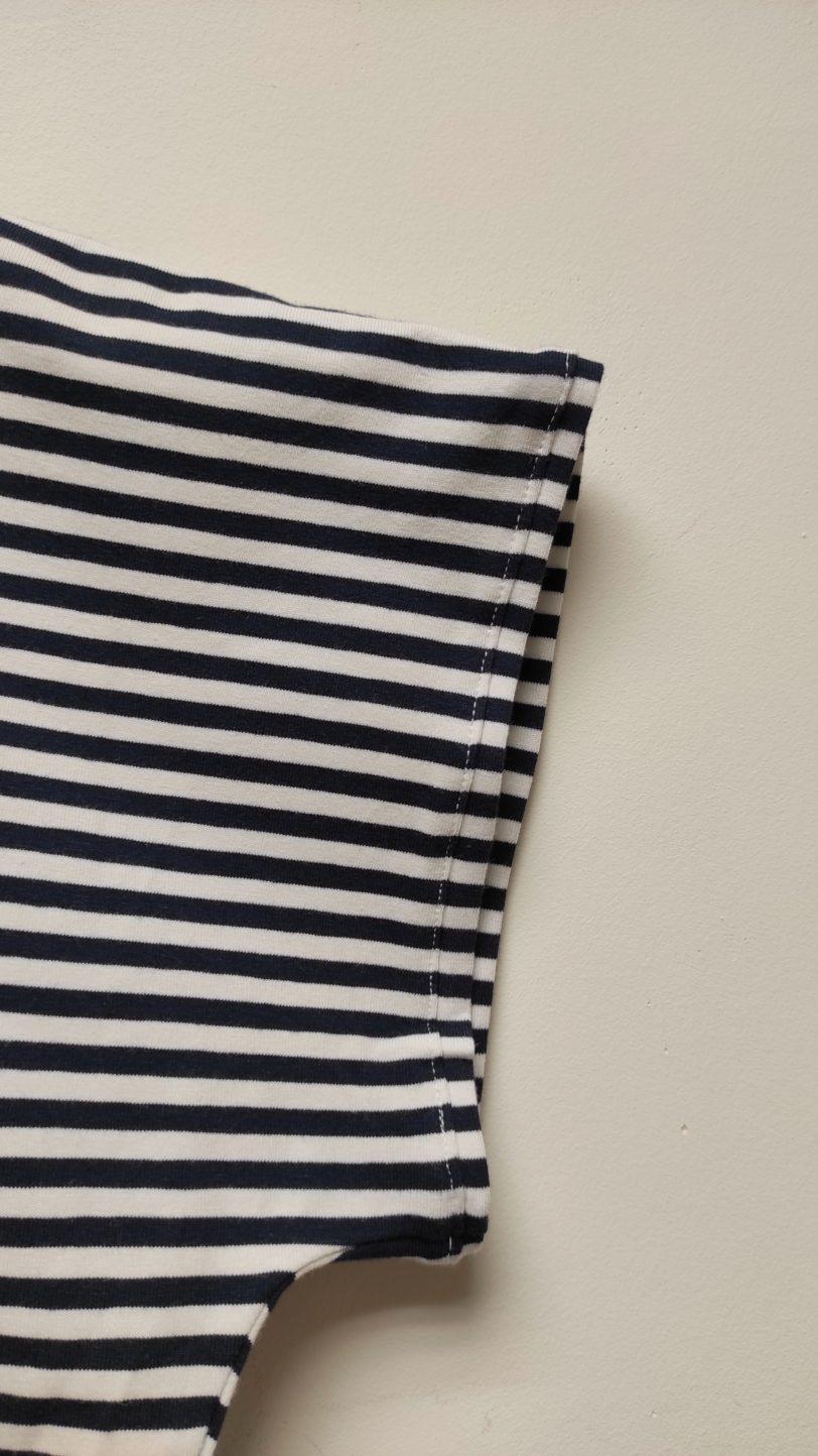 Crop Top Krok Jerey rayure bleu marine blanche Julie Bonnard créatrice textile saint etienne (5)