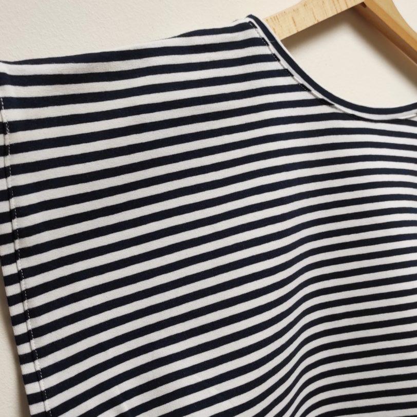 Crop Top Krok Jerey rayure bleu marine blanche Julie Bonnard créatrice textile saint etienne (7)