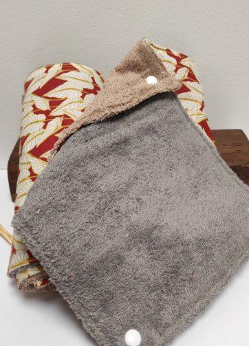 Essuie Tout feuille terracota feuilles Julie Bonnard créatrice textile