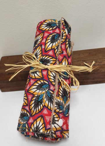Essuie Tout impression wax 5 feuilles Julie Bonnard créatrice textile