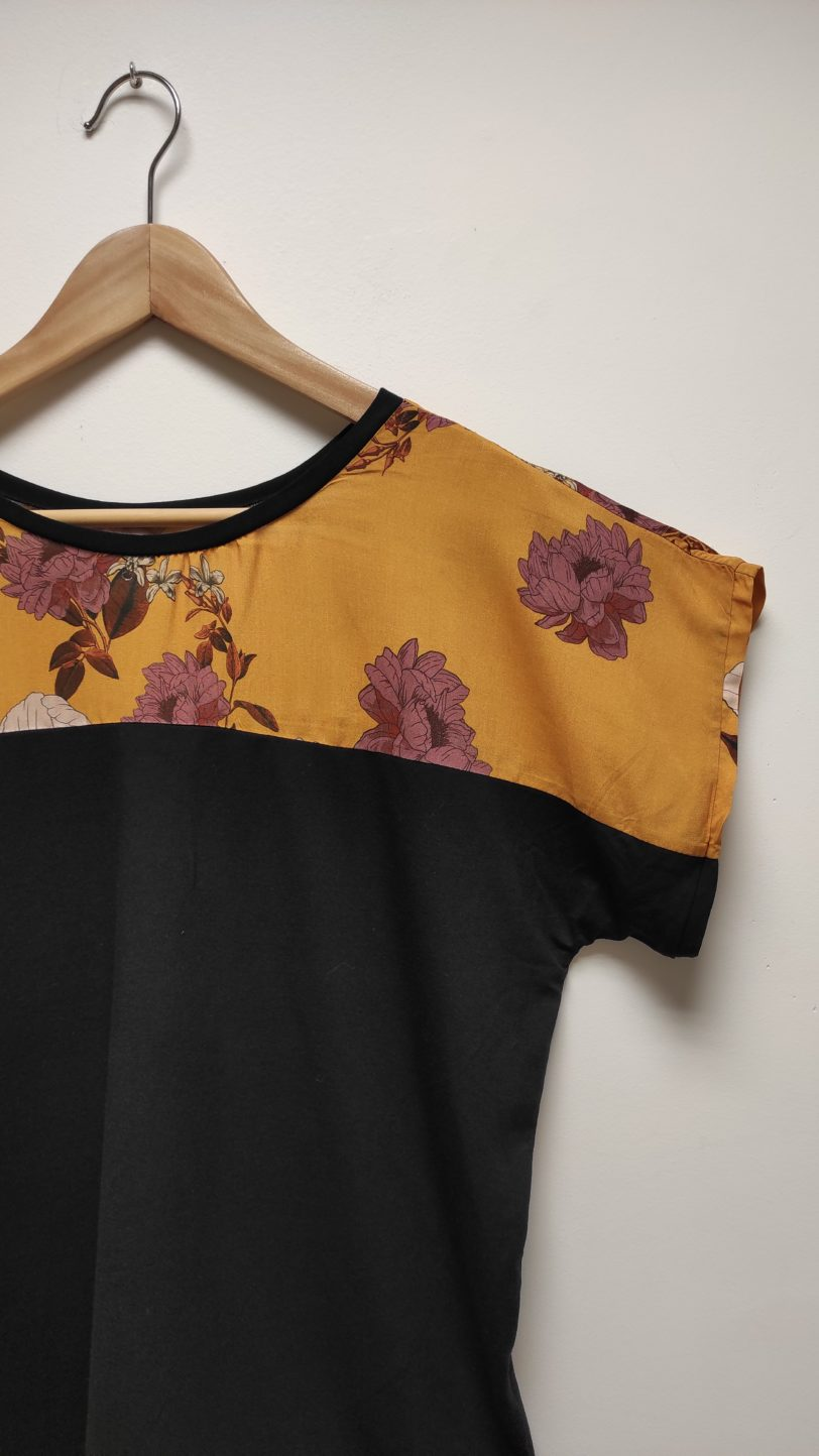 T-Shirt Kani Soie et viscose Julie Bonnard Créatrice textile Saint-Étienne (1)