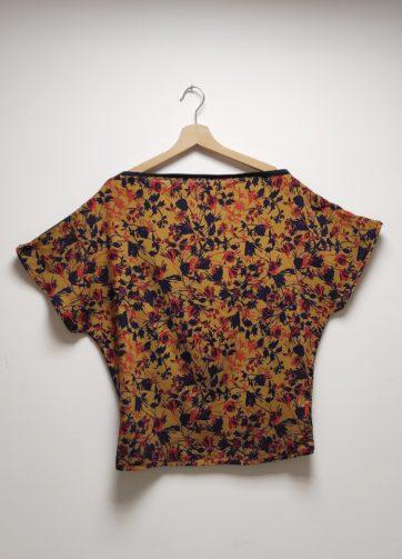 T-Shirt Testa Jardin Bleu et jersey bleu canard Julie Bonnard Créatrice Textile Saint Etienne (1)