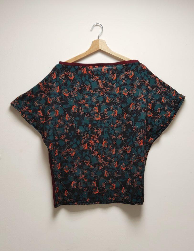 T-Shirt Testa Jardin Bleu et jersey bordeaux Julie Bonnard Créatrice Textile Saint Etienne (2)