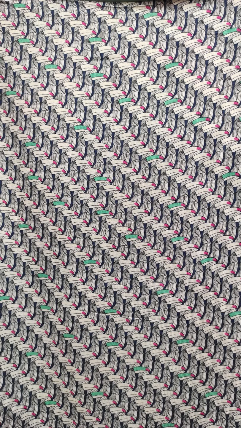 T-Shirt Testa Toucan et jersey Bleu ciel Julie Bonnard Créatrice Textile Saint Etienne (3)