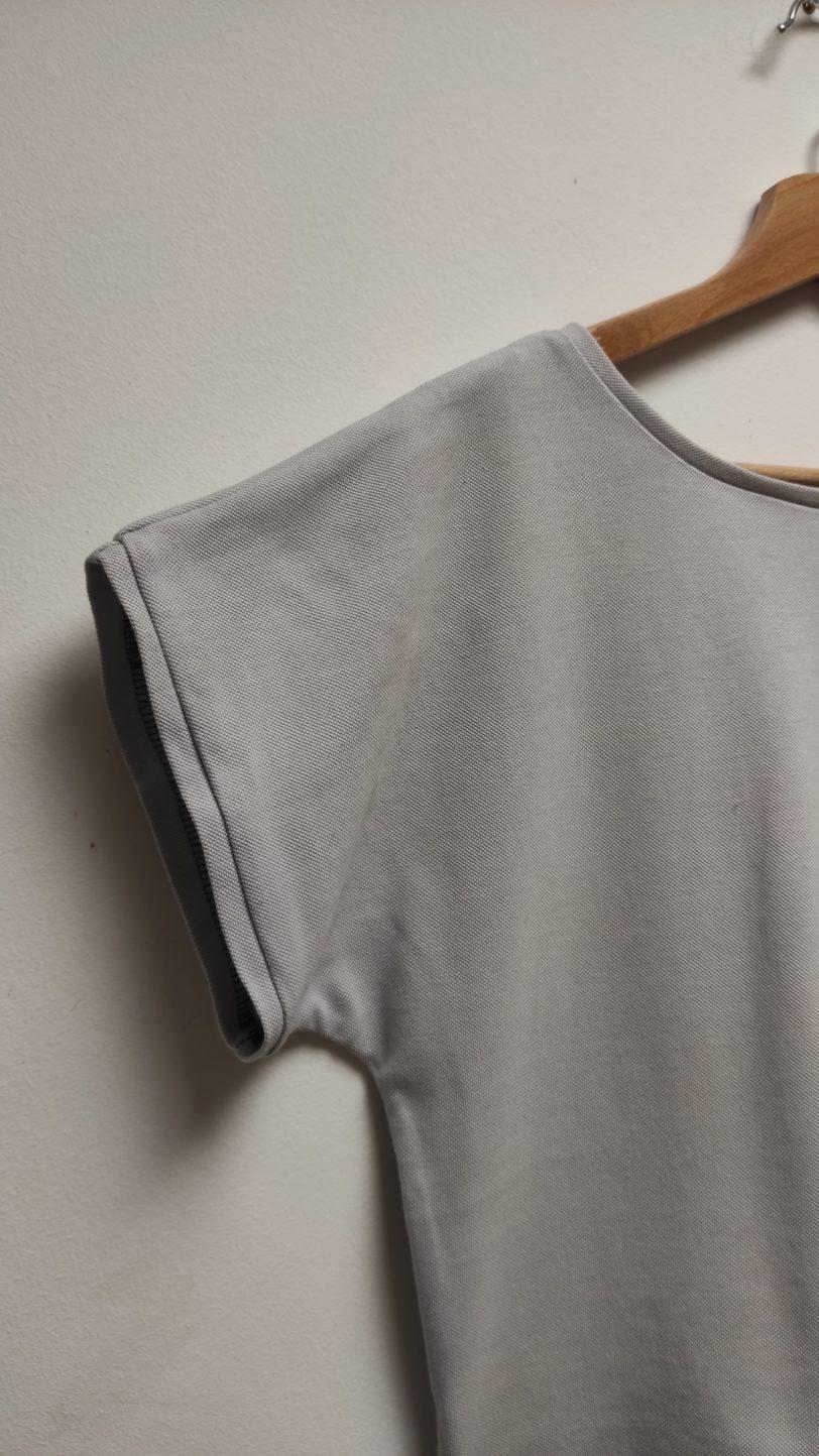 Tshirt Crop Top Krok Court Gris Clair Julie Bonnard créatrice vêtement Saint-Etienne (3)