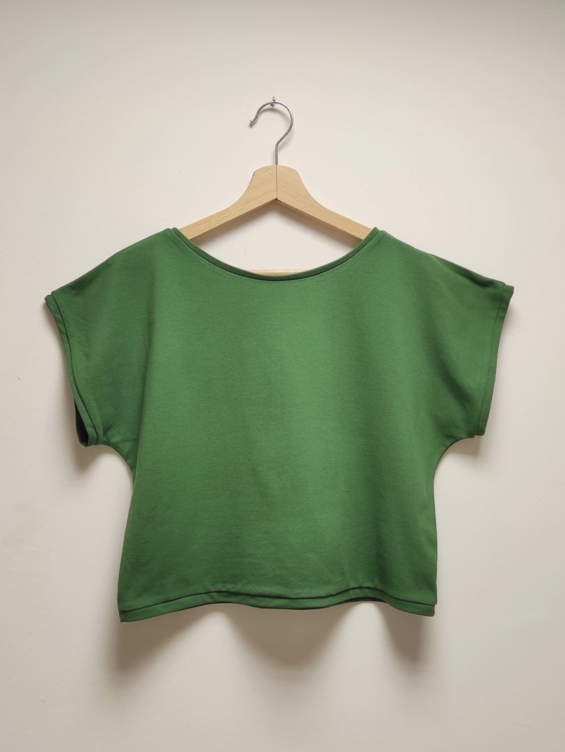 Tshirt Crop Top Krok Court vert Julie Bonnard créatrice vêtement Saint-Etienne
