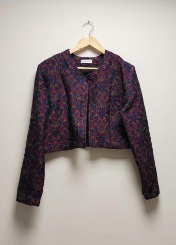 Veste Esik Jacquard Français veste courte Julie Bonnard créatrice textile Saint-Etienne (3)